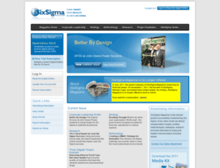 isixsigma-magazine.com screenshot