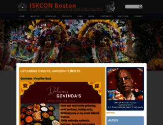 iskconboston.org screenshot