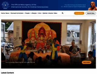iskconnews.org screenshot