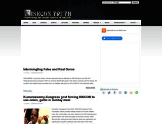 iskcontruth.com screenshot