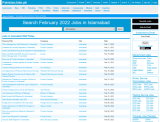 islamabad.pakistanjobs.pk screenshot