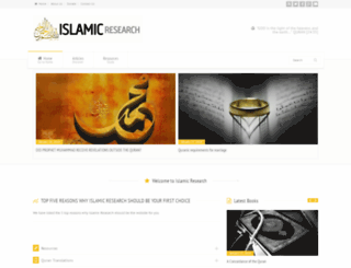 islamic-research.com screenshot