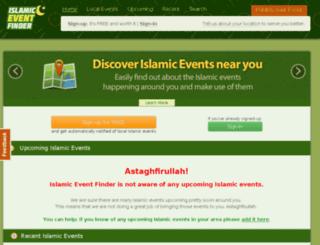 islamiceventfinder.com screenshot