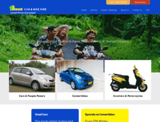 islandcarhire.co.ck screenshot