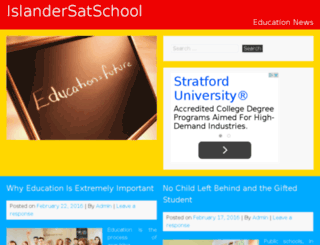 islandersatschool.com screenshot