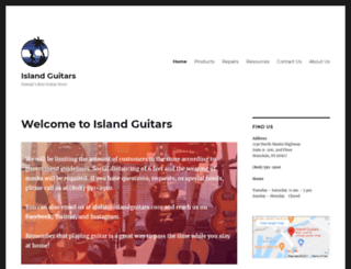 islandguitars.com screenshot