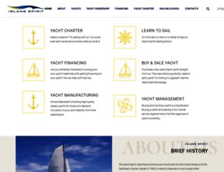 islandspirit-catamarans.com screenshot