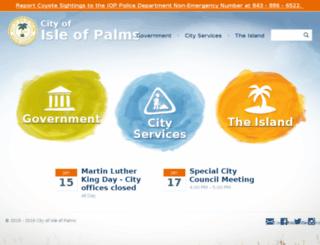 isle-of-palms.sc.us screenshot