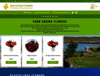islesofscillyflowers.com screenshot