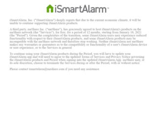 ismartalarm.com screenshot