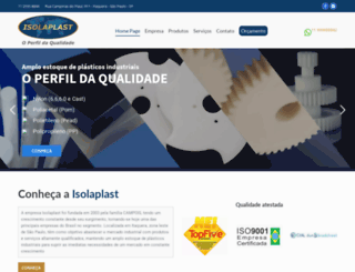 isolaplast.com.br screenshot