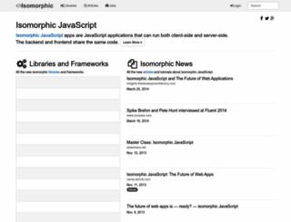 isomorphic.net screenshot