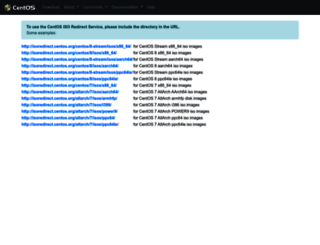 isoredirect.centos.org screenshot