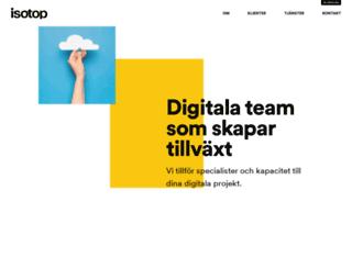 isotop.se screenshot