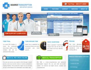 isourcetranscription.com screenshot