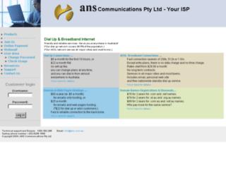 isp.ans.com.au screenshot