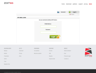 isparea.zextras.com screenshot