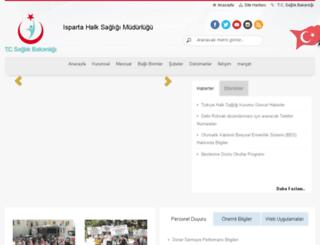 isparta.hsm.saglik.gov.tr screenshot