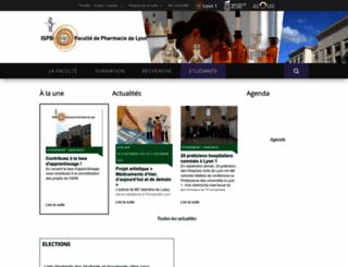 ispb.univ-lyon1.fr screenshot