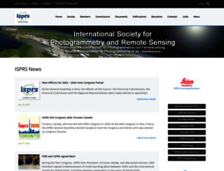 isprs.org screenshot