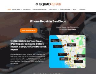 isquadrepairsandiego.com screenshot