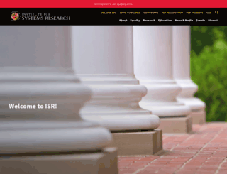isr.umd.edu screenshot