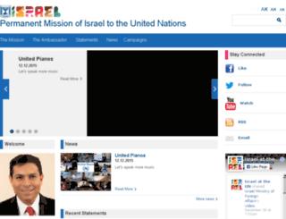 israel-un.mfa.gov.il screenshot