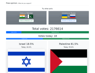 israel-vs-palestine.com screenshot