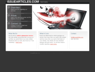 issuearticles.com screenshot
