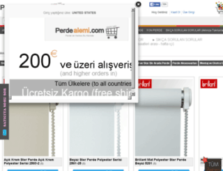 istanbul-zebra-perde.perdealemi.com screenshot