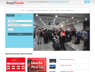 istanbulairporttransfer.com screenshot
