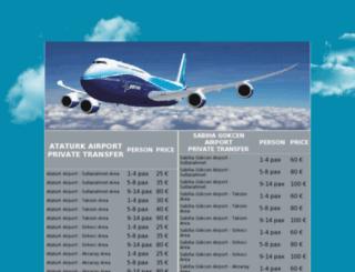istanbulcityairporttransfer.com screenshot