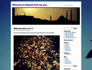 istanbulyokmusbundanbaska.wordpress.com screenshot