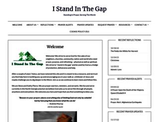 istandinthegap.org screenshot