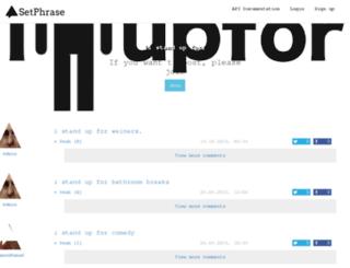 istandupfor.setphrase.com screenshot
