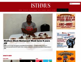 isthmus.com screenshot