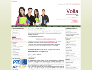 istitutovoltapavia.it screenshot