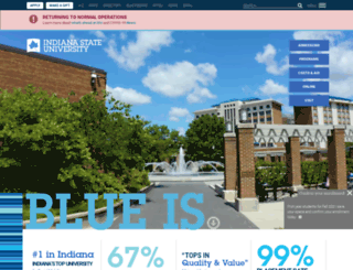 isu.indstate.edu screenshot