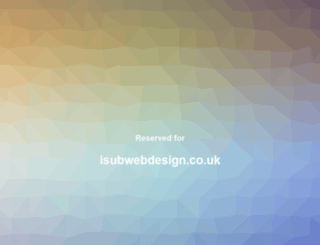 isubwebdesign.co.uk screenshot