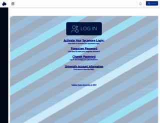 isuportal.indstate.edu screenshot