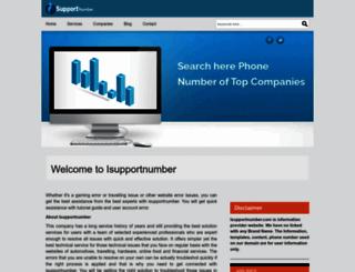 isupportnumber.com screenshot