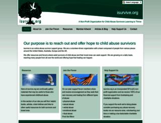 isurvive.org screenshot