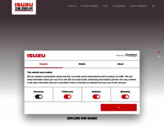 isuzu.co.uk screenshot