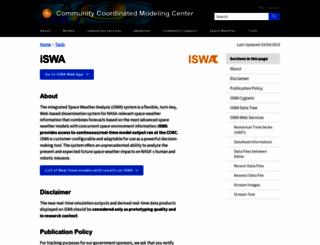 iswa.gsfc.nasa.gov screenshot