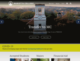 isweb.marietta.edu screenshot