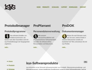 isys-informatik.ch screenshot