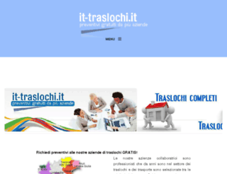 it-traslochi.it screenshot