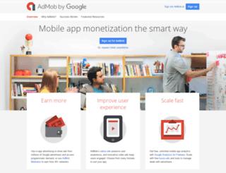 it.admob.com screenshot