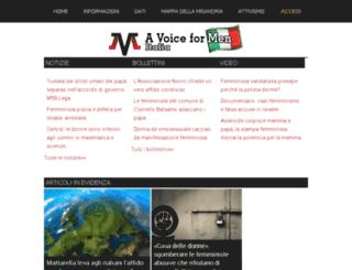 it.avoiceformen.com screenshot