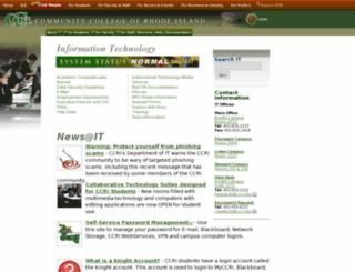 it.ccri.edu screenshot